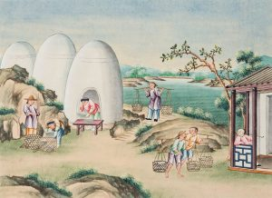 The process of porcelain production. Guangzhou, China, c. 1810. Gift of Lindy Barrow, G13.2.1-12.