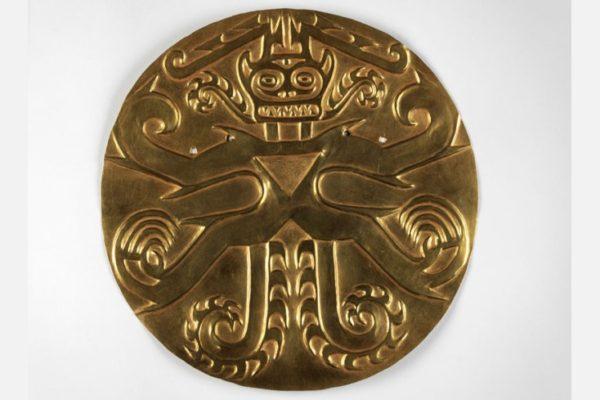 Plaque, Panama, Sitio Conte, 700-900 CE, Gold, copper, silver , alloys, 40-13-11, Image provided courtesy of the Penn Museum