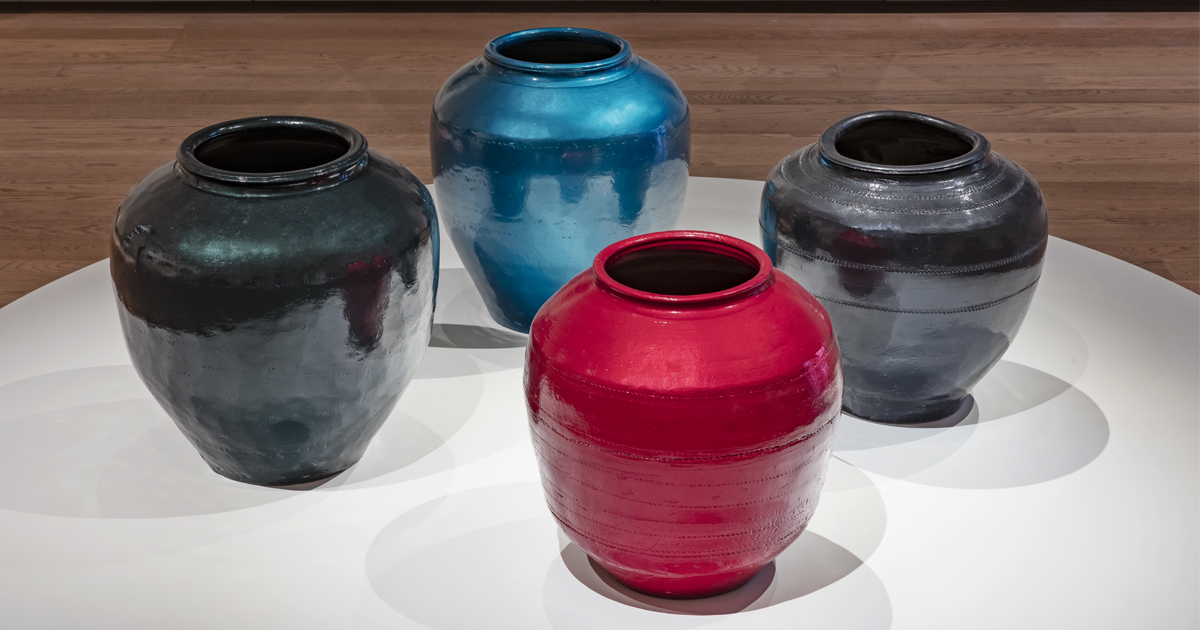 Ai Weiwei, Han Dynasty Vases with Auto Paint, 2015