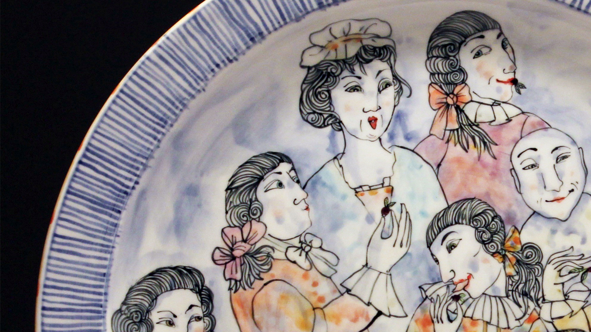 Ceramic plate by Thomas Aitken and Kate Hyde