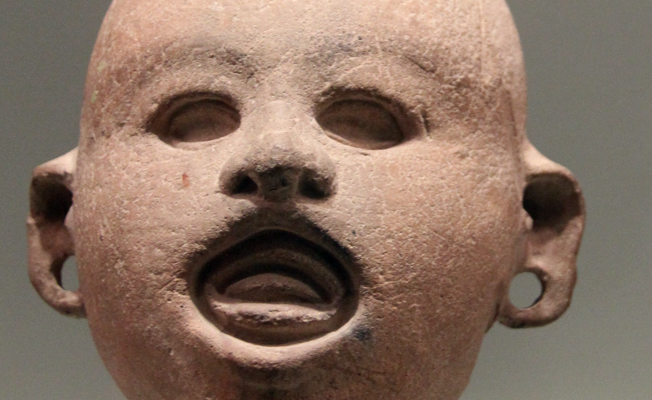 Ceramic head of Head of Xipe Totec