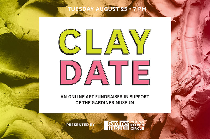 Clay Date - An online fundraiser in support of the Gardiner Museum