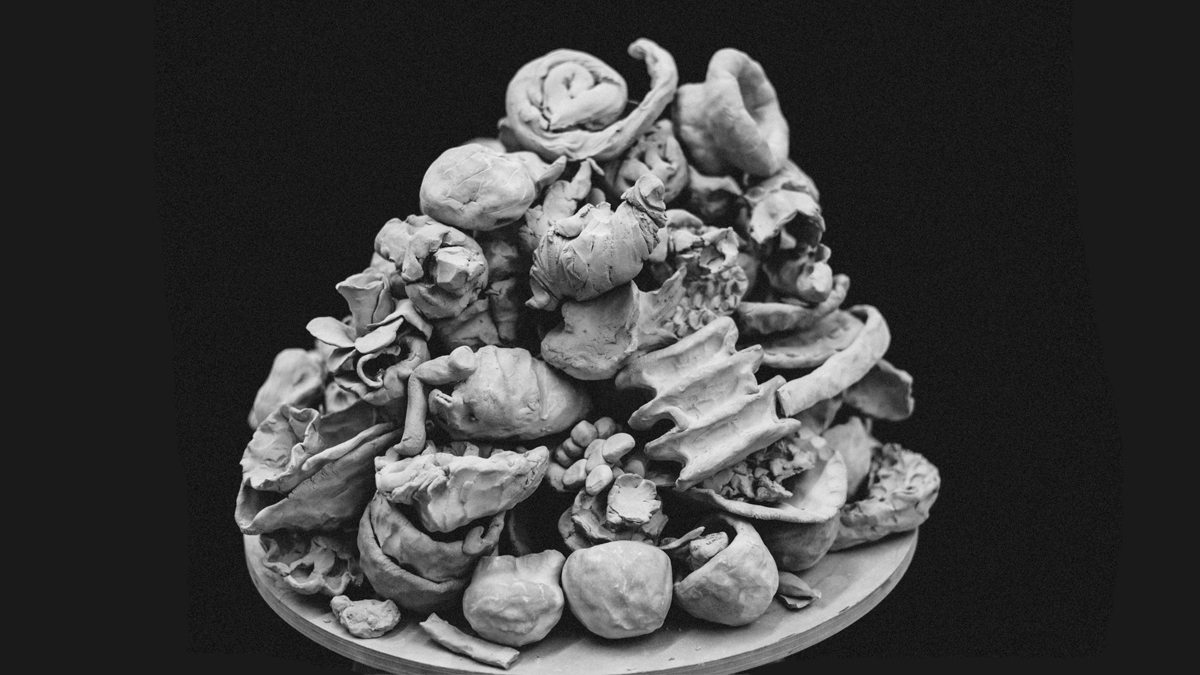 Pile of clay objects