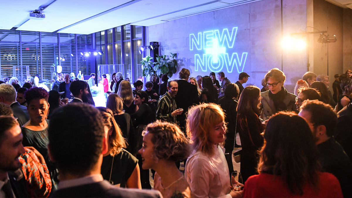 Guests at a fundraising gala in the Gardiner Museum's Terrace Room