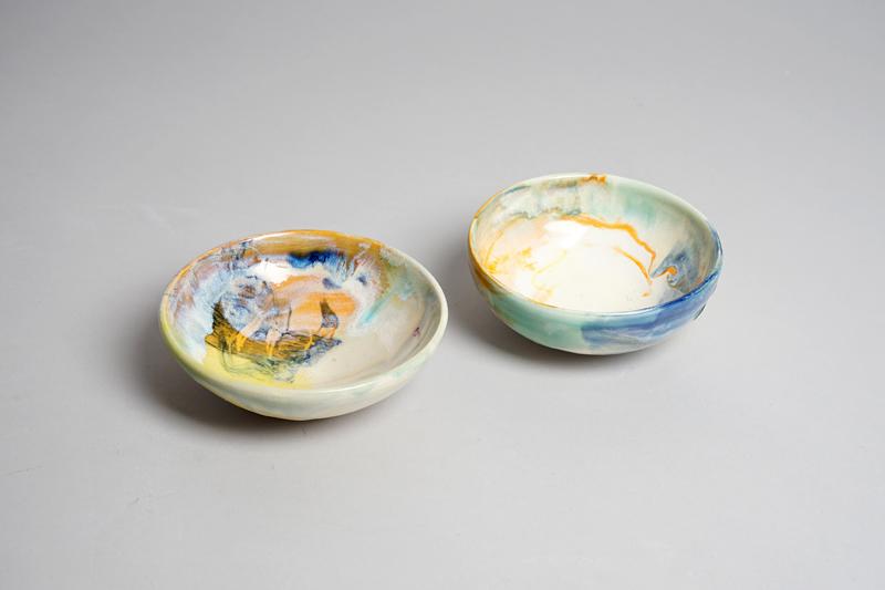 Small colourful ceramic bowls
