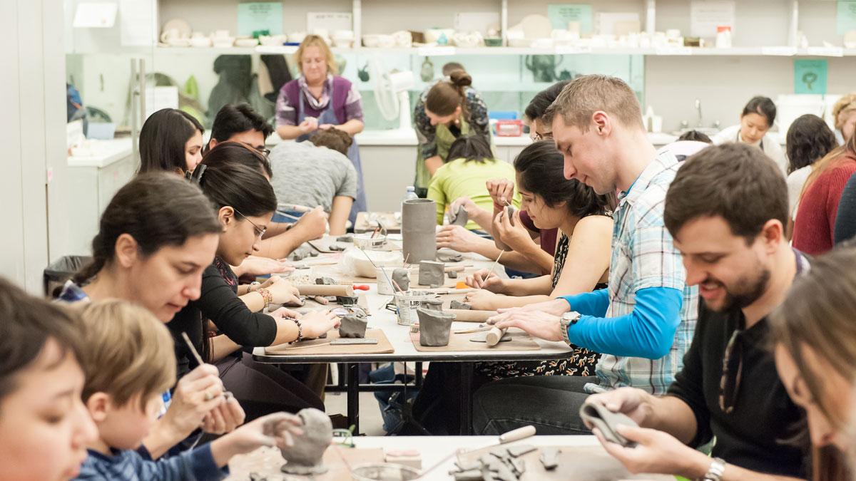 Drop In Clay Class, Photo: Lisa Sakulensky