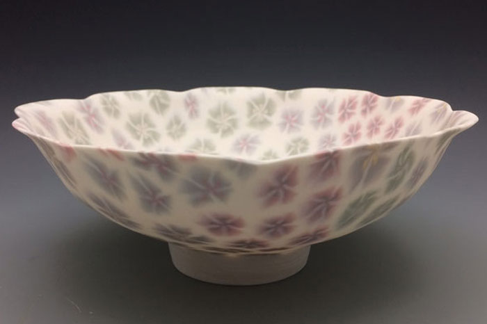 Nerikomi porcelain bowl