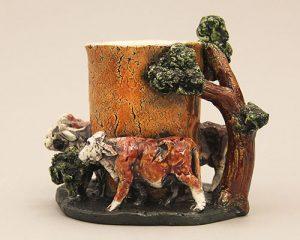 Joe Fafard, Cow Figure Vessel, 1972, G12.19.1