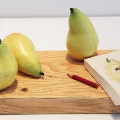 Karen Dahl, A Trio of Pears, 1998 - 2001, Gift of Diana Reitberger.