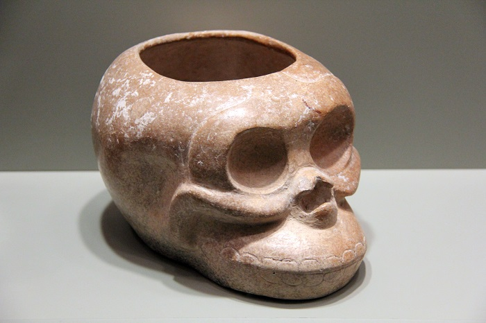 Monkey Skull Vessel. Guatemala, Highlands, AD 600 – 750. Earthenware. Gift of George and Helen Gardiner. G83.1.119