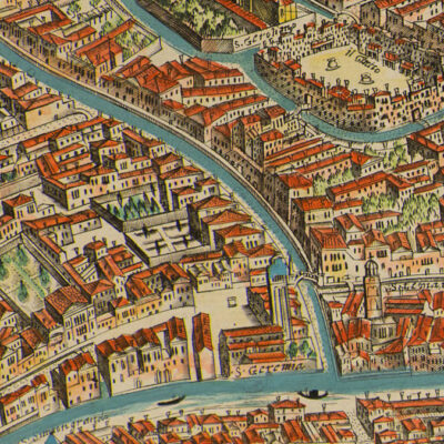 Detail of the Venetian ghetto from Giovanni Merlo's 1676 map