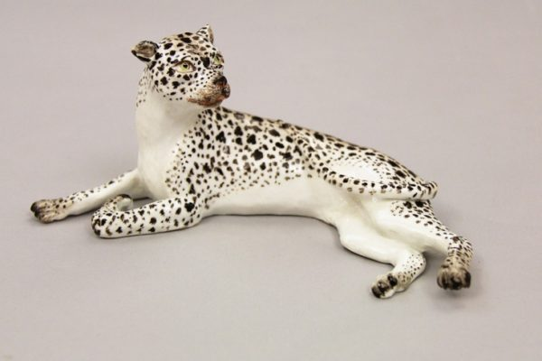 Leopard, Meissen Porcelain Manufactory, Germany, c. 1750, Hard-paste porcelain