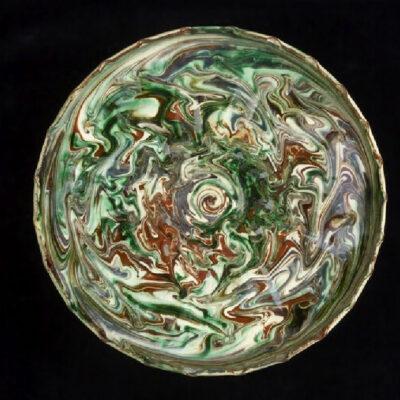 Marbled ceramic dish