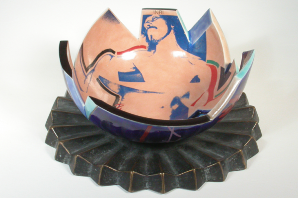 Paul Mathieu - Crucifixion Bowl, 1984