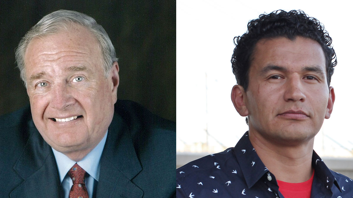 Paul Martin and Wab Kinew