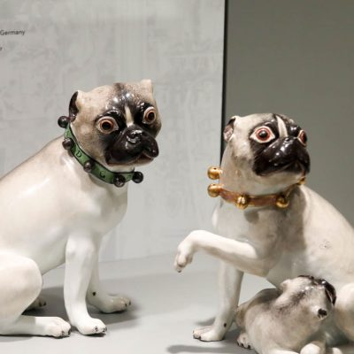 Pair of Pug Dogs from the Royal Palace at Warsaw
