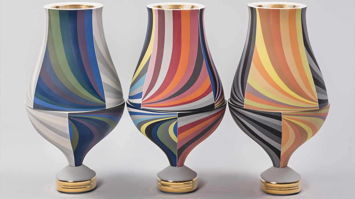 Peter Pincus, Trio of Vessels V, 2017. Gift of Diana Reitberger.