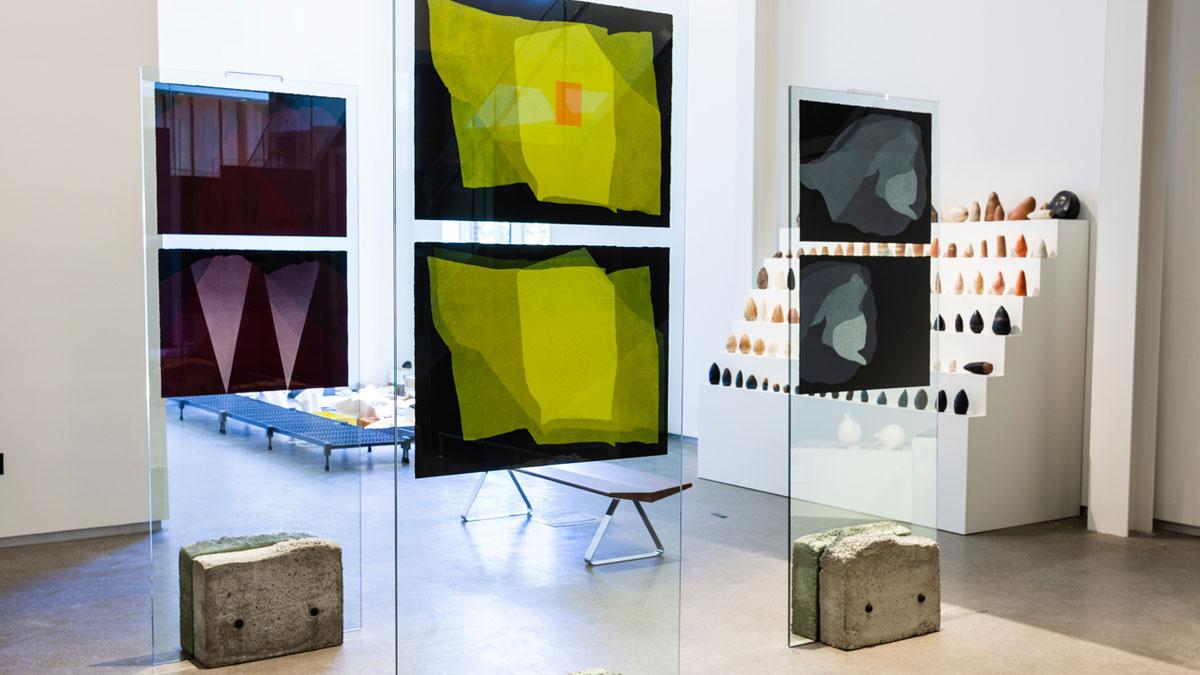 Installation of multimedia works by Sameer Farooq