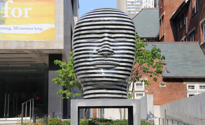 Jun Kaneko sculpture at the Gardiner Museum