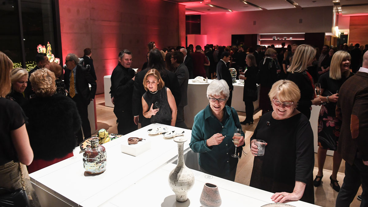Guests mingling at the International Ceramic Art Fair Preview Gala