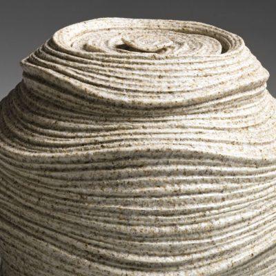 Sakiyama Takayuki, Chōtō; Listening to the Waves, 2012 Stoneware with sand glaze 10 3/8 x 9 1/2 x 5 5/8 in On loan from Joan B Mirviss LTD
