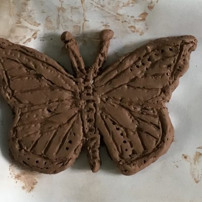 clay butterfly