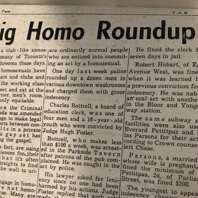 Newspaper from the 1970s