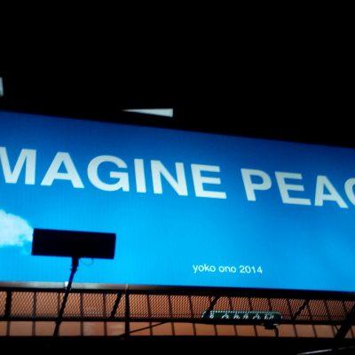 IMAGINE PEACE billboard