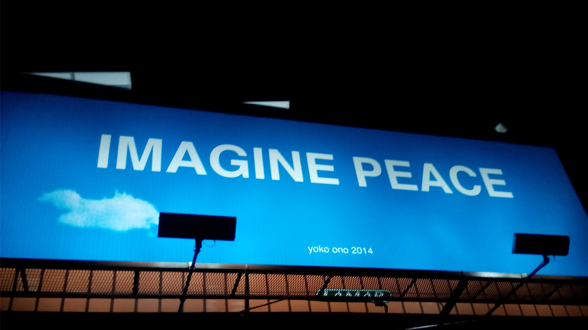 IMAGINE PEACE billboard