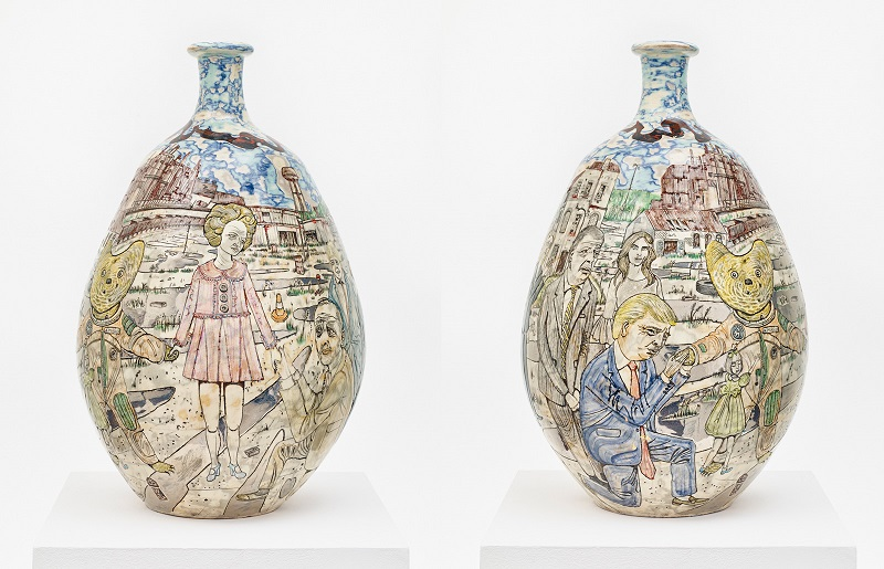 Grayson Perry: Alan Measles and Claire Visit The Rust Belt (views of both sides), 2017